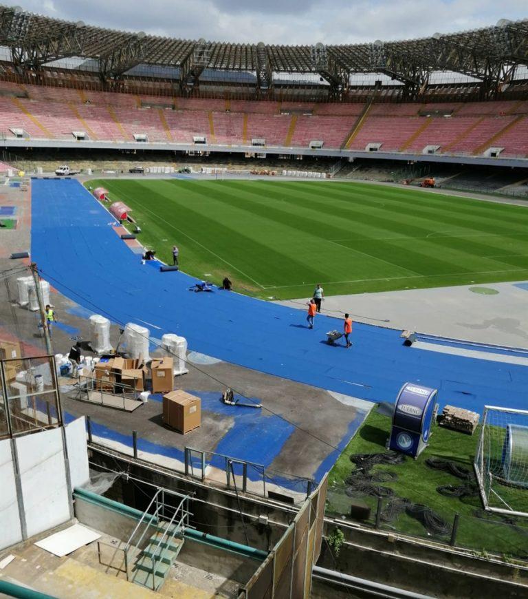 Universiade, un nuovo stadio San Paolo per un grande appuntamento Oltre alla pista di atletica, i nuovi impianti di audio e luce: autentici gioielli tecnologici di ultimissima generazione