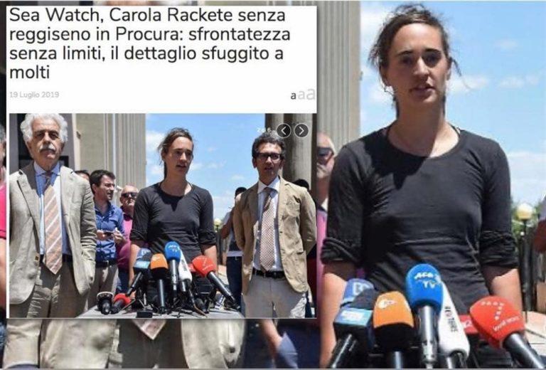 I capezzoli di Carola Rackete e la vergogna giornalistica