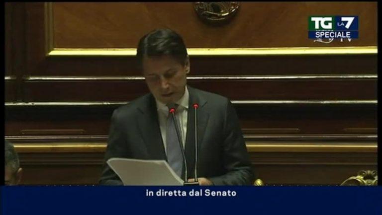 Il premier in veste di portavoce di Salvini discetta  al Senato sull'affaire del Russiagate. Di Maio non pervenuto e il Pd annuncia la 'solita' mozione di sfiducia