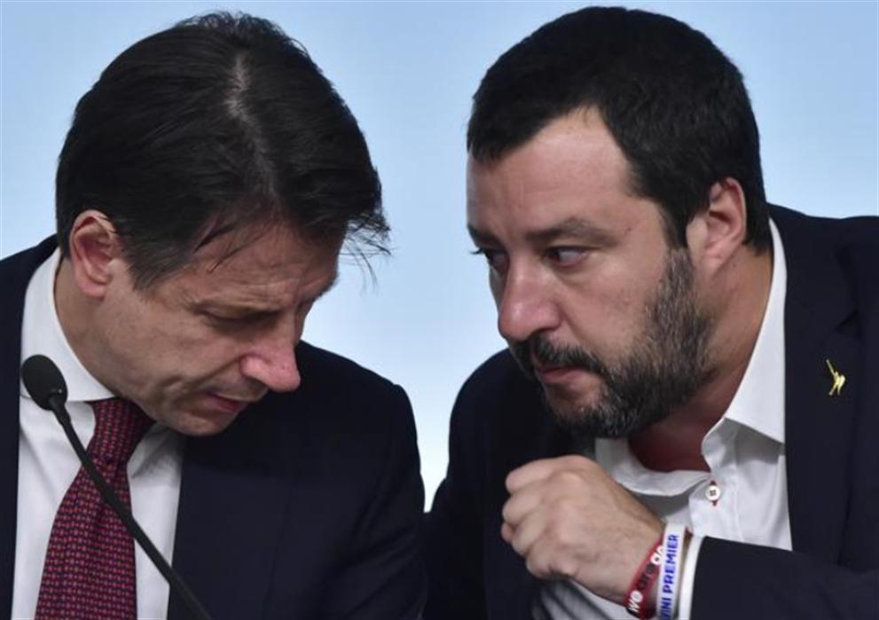 Scintille tra il ministro Salvini e il premier Conte