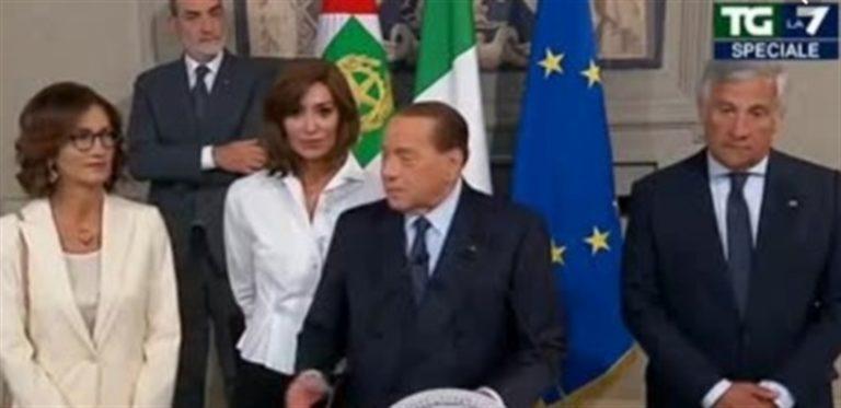 """Berlusconi bastona Salvini e si riprende lo spazio politico del centro-destra. """"La Lega ha consegnato il Paese alla sinistra"""""""