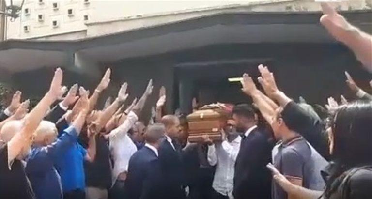 Saluto fascista al funerale dell'ex presidente Antonio Rastrelli. Perché non si applica la legge Mancino?