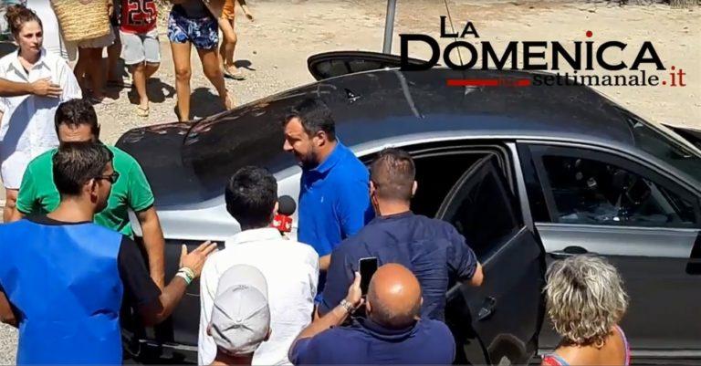 Blitz di Salvini nei campi rom di Giugliano e Qualiano