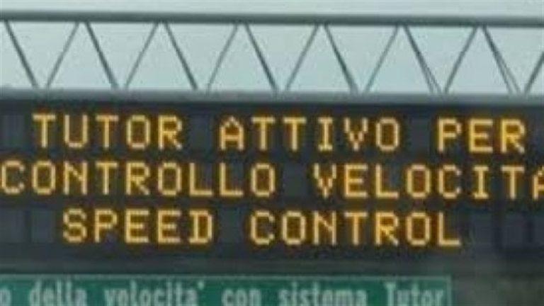 Controesodo, riattivati i Tutor in autostrada. Deciso dalla Cassazione