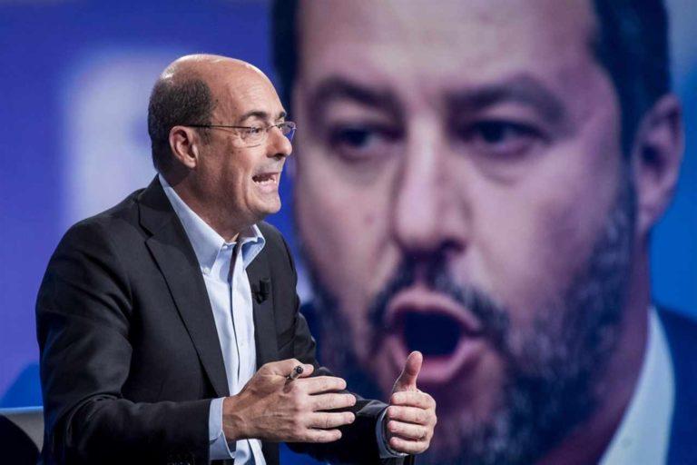 """Salvini è con Zingaretti: """"Riconosco al segretario del Pd la coerenza nel non voler fare inciuci con il M5S"""""""