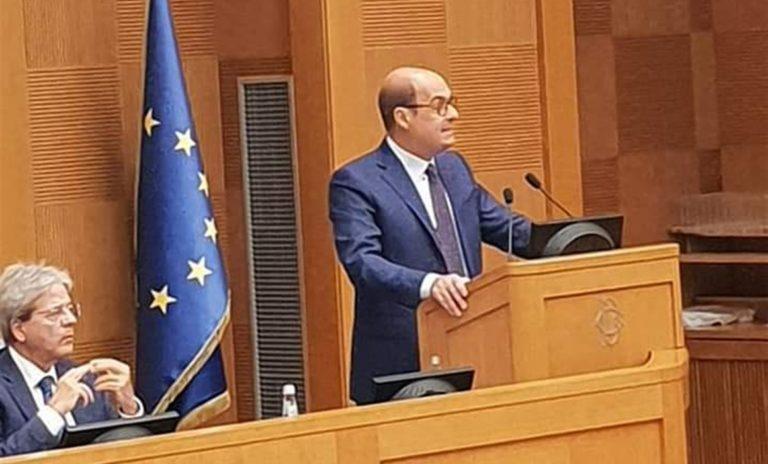 """Zingaretti all'assemblea dei parlamentari: """"Dobbiamo essere capaci di costruire ed interpretare davvero un tempo nuovo"""""""