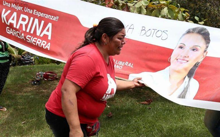 Arsa viva Karina Garcia Sierra, candidata sindaca di Suarez