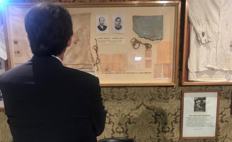 """Il ministro Franceschini in visita al Museo di via Tasso: """"Qui furono torturati antifascisti e cittadini"""""""