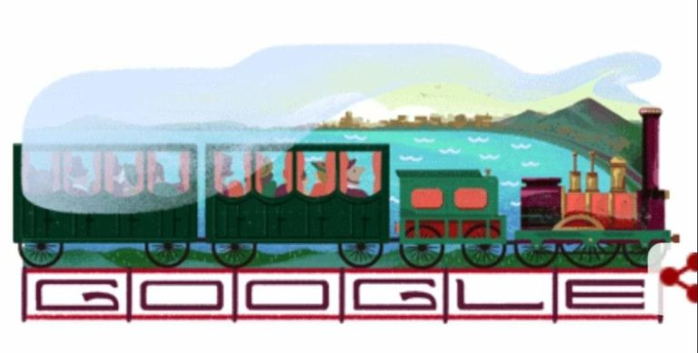 Google festeggia l'anniversario della stazione Napoli-Portici