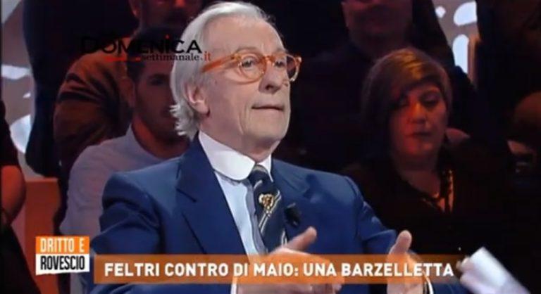 """Vittorio Feltri choc :""""M5S come un malato terminale, rassegnati ad una morte dolce, magari assistita"""". Associazioni e giornalisti pronti a denunciare il direttore di Libero"""