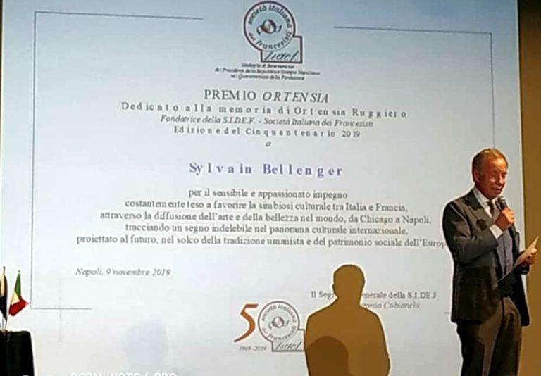 """Premio Ortensia 2019 al direttore Bellenger per  """"la sua diffusione dell'arte e della bellezza nel mondo"""""""