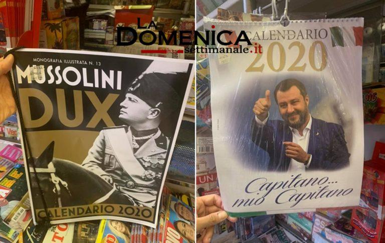 Mussolini e Salvini: vanno a ruba i loro calendari celebrativi