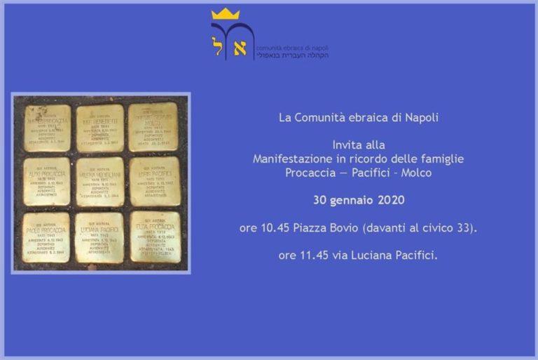 Le atrocità della Shoah, la Comunità ebraica di Napoli in due cerimonie ricorda le vittime dello sterminio di   Auschwitz