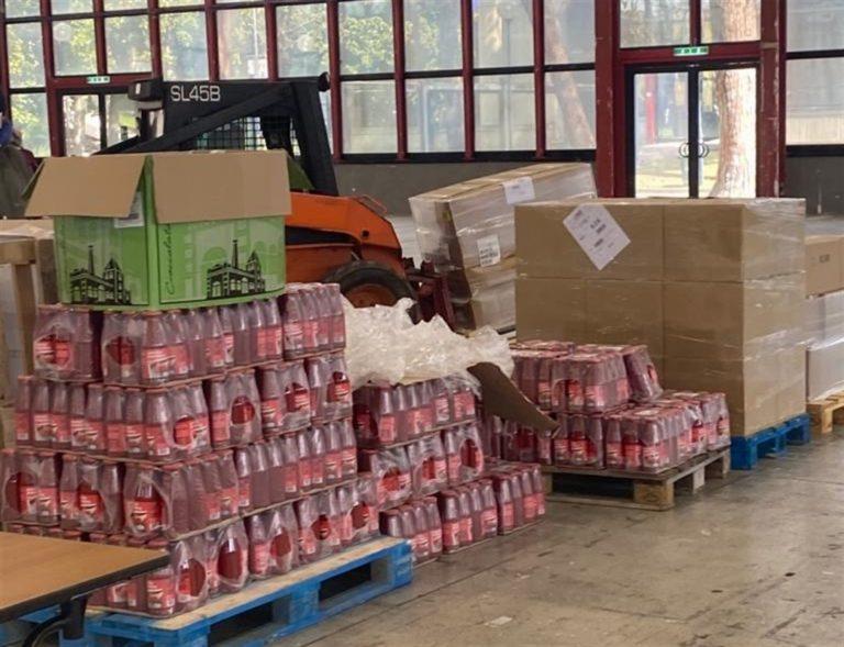 Napoli, comincia la distribuzione di generi alimentari alla Mostra d'Oltremare