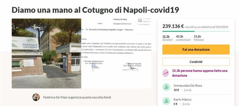 """Due studenti di medicina raccolgono 239 mila euro in poche ore per l'aospedale Cotugno di Napoli. L'obiettivo è di 500 mila euro: """"Facciamo qualcosa e rendiamoci utili"""""""