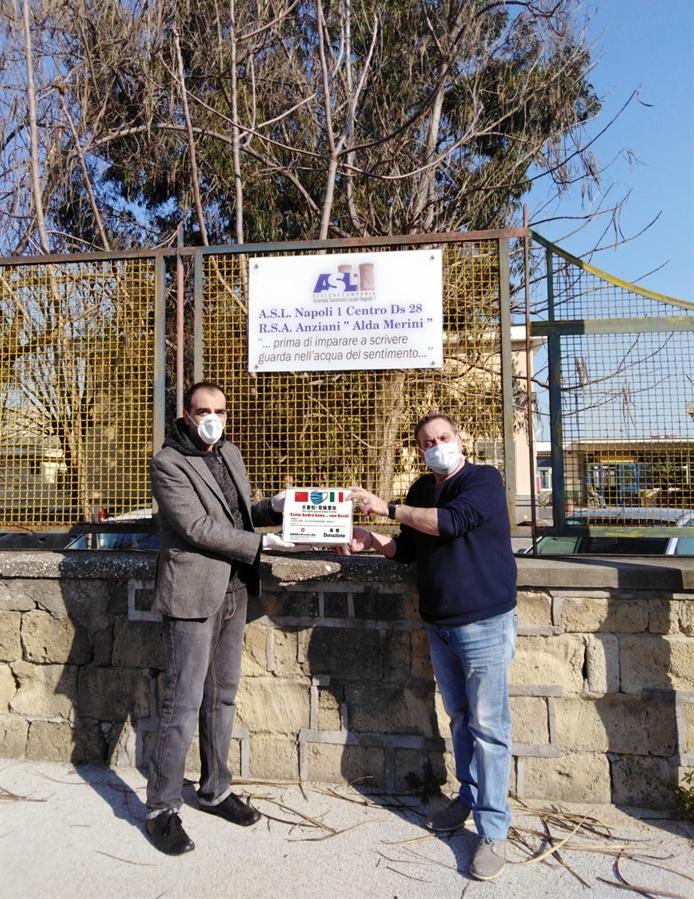 La chiesa cristiana evangelica cinese di Prato dona le mascherine alla casa di riposo per anziani della RSA Scampia Asl 1