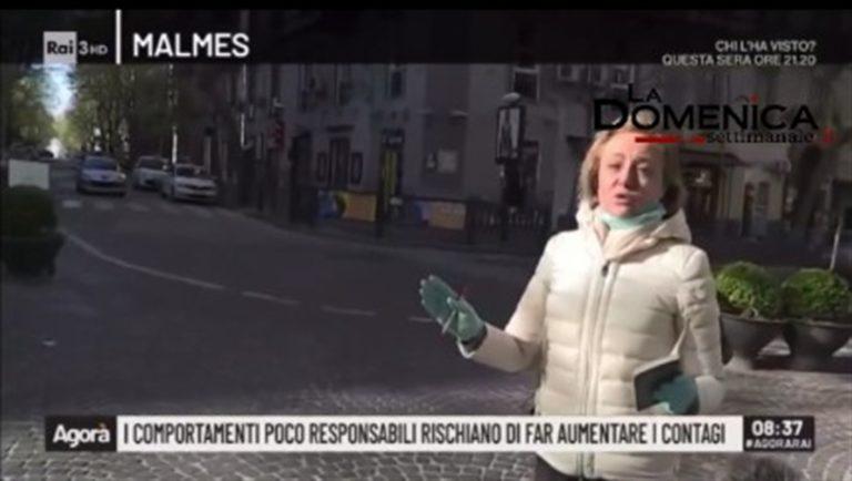 """VIDEO. L'inviata di Agorà delusa dai napoletani : """"Non siamo fortunati in questo momento, si stanno comportando bene"""""""