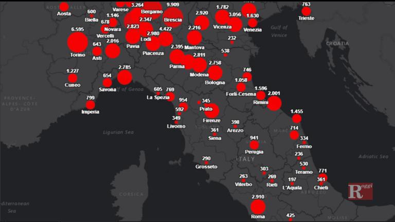 Campania, comincia a far paura l'onda anomala Covid