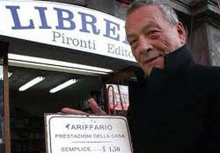 """L'editore Pironti: """"Riapro la mia libreria per combattere e sconfiggere il virus"""""""
