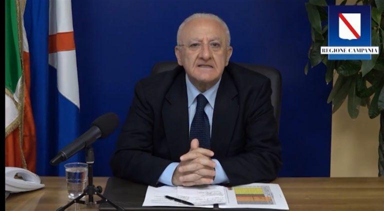 "Scuola, De Luca : ""Escludo in Campania, aperture generalizzate"""