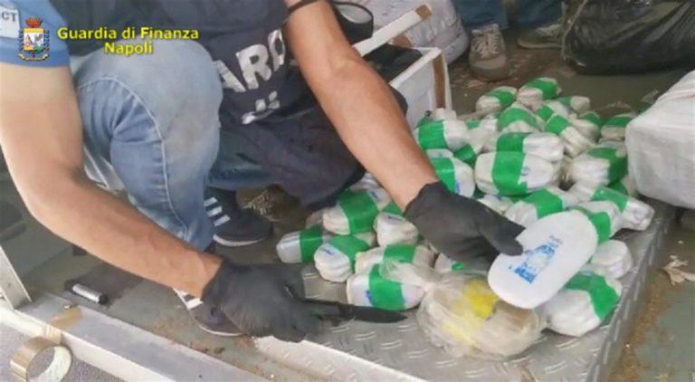 Finanza effettua maxi sequestro di droga nel porto di Salerno