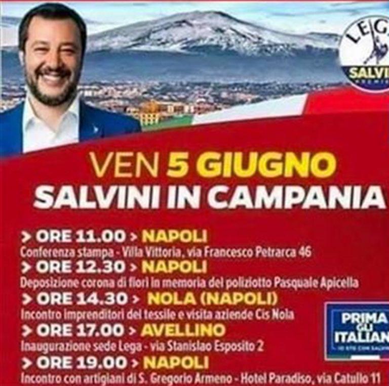 """Salvini confonde l'Etna con il Vesuvio e accusa: """"È colpa della sinistra"""" poi si ricorda di un coro che dedicava ai partenopei"""