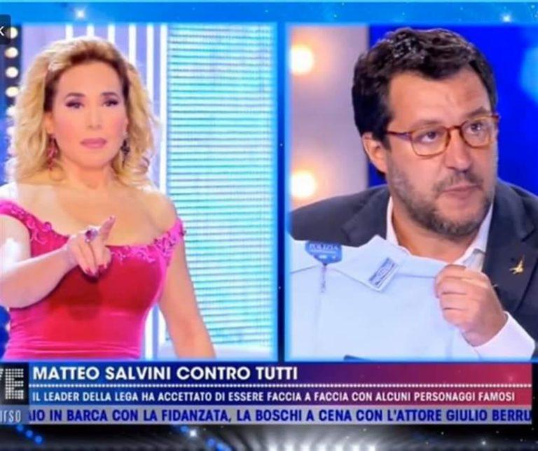 Salvini 'torchiato' per ore dalla d'Urso solo contro tutti