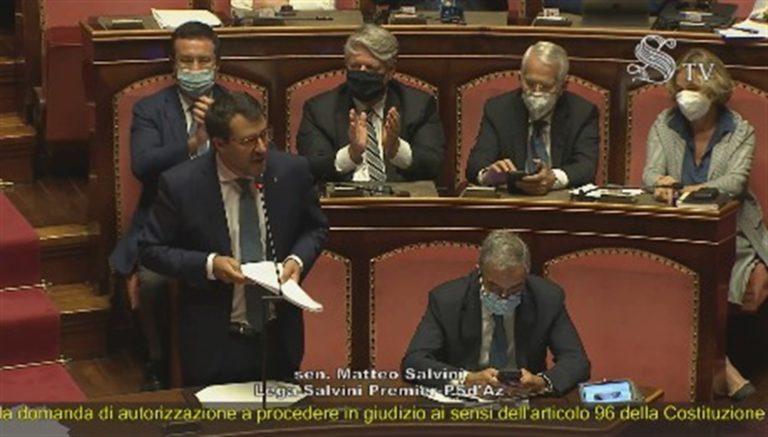 """Oper Arms. Salvini : """"No al mio processo politico. Ho difeso la Patria"""""""