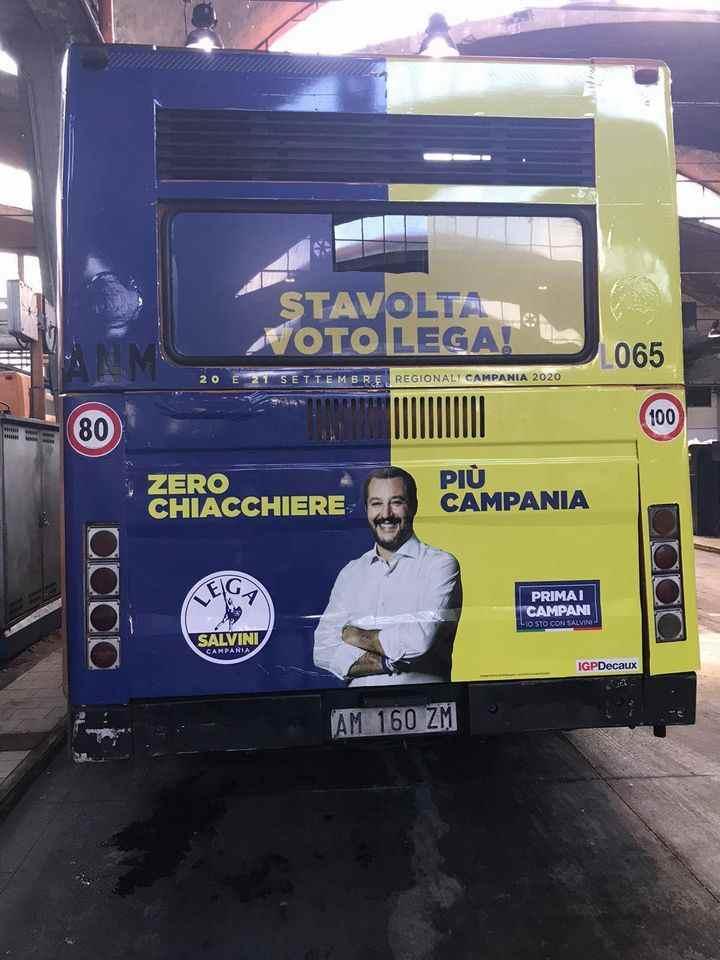 Pubblicità 'ingannevole' della Lega sui bus Anm