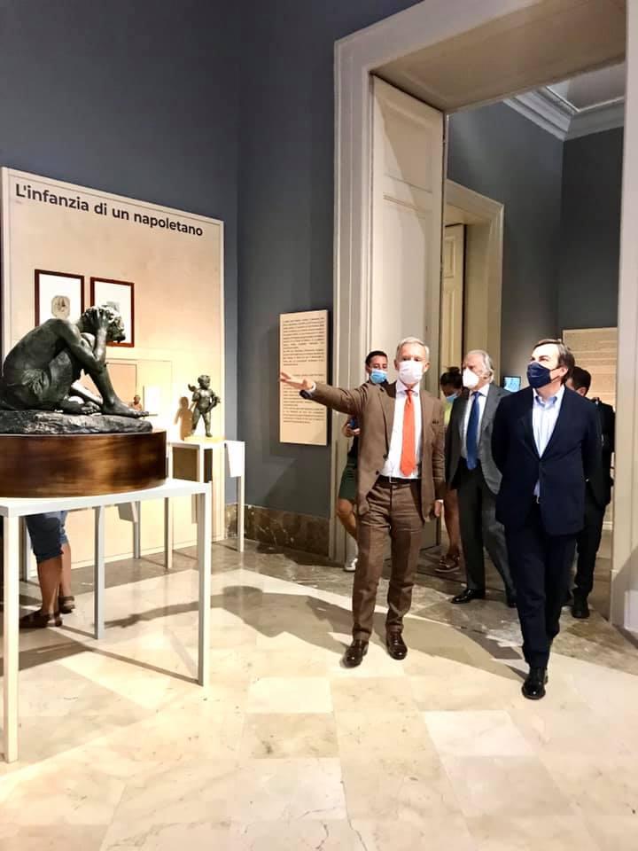 """Real Museo e Bosco di Capodimonte strega il ministro Amendola: """"Qui già c'è la bellezza e la cultura della nuova Italia del Recovery Fund"""""""