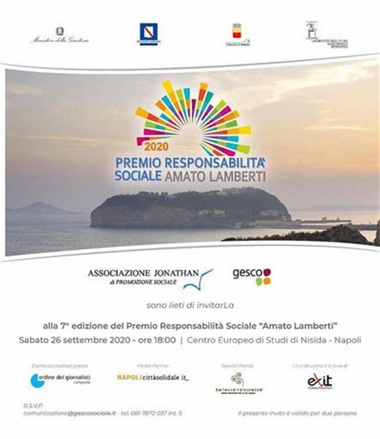Il premio responsabilità sociale 'Amato Lamberti' dedicato al filosofo Aldo Masullo