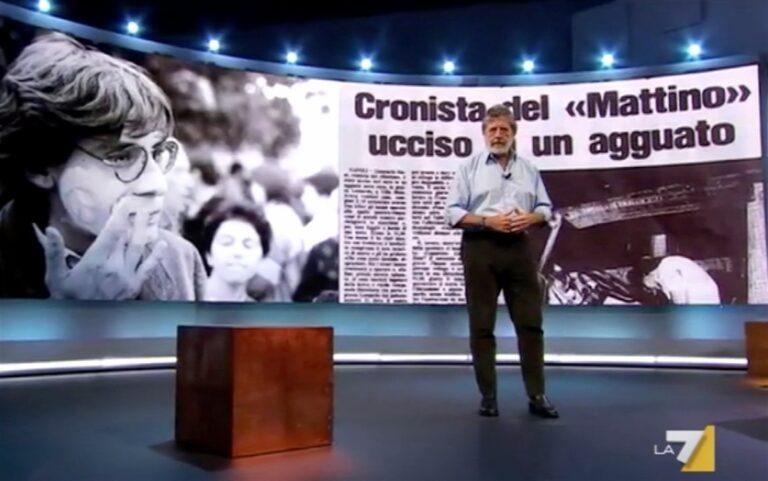 Giancarlo Siani, stasera su 'Atlantide' con Purgatori e poi il film Fortapasc