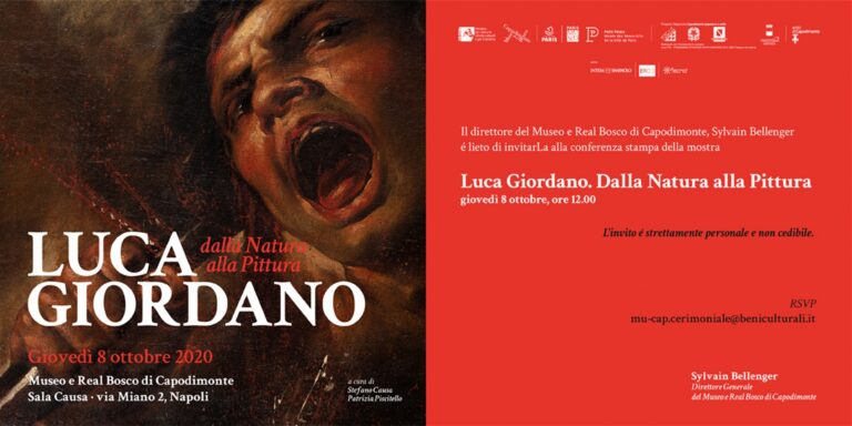 Al Museo di Capodimonte sarà presentata la mostra: Luca Giordano. Dalla Natura alla Pittura