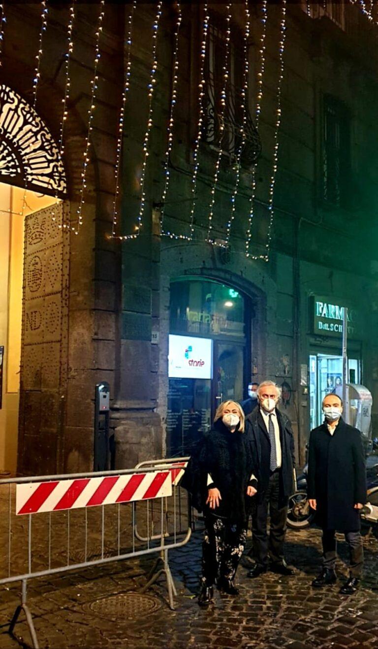 La Fondazione Banco di Napoli accende le luminarie al Rione Forcella