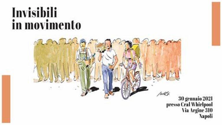 Nel teatro Whirlpool l'appuntamento : la marcia degli 'Invisibili in movimento' con Lucano, Soumahoro, Insinna, Paci