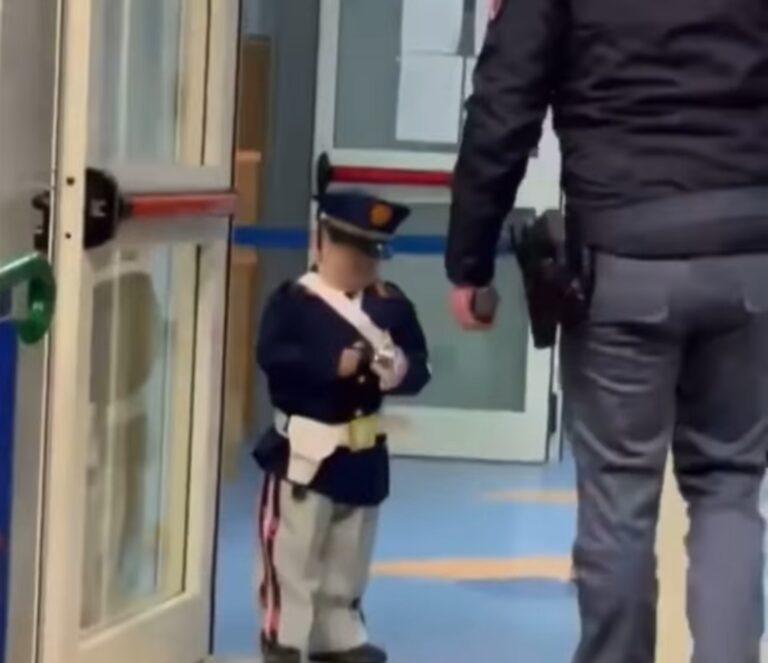 LA STORIA. Il piccolo Davide e il sogno per un giorno di essere un poliziotto