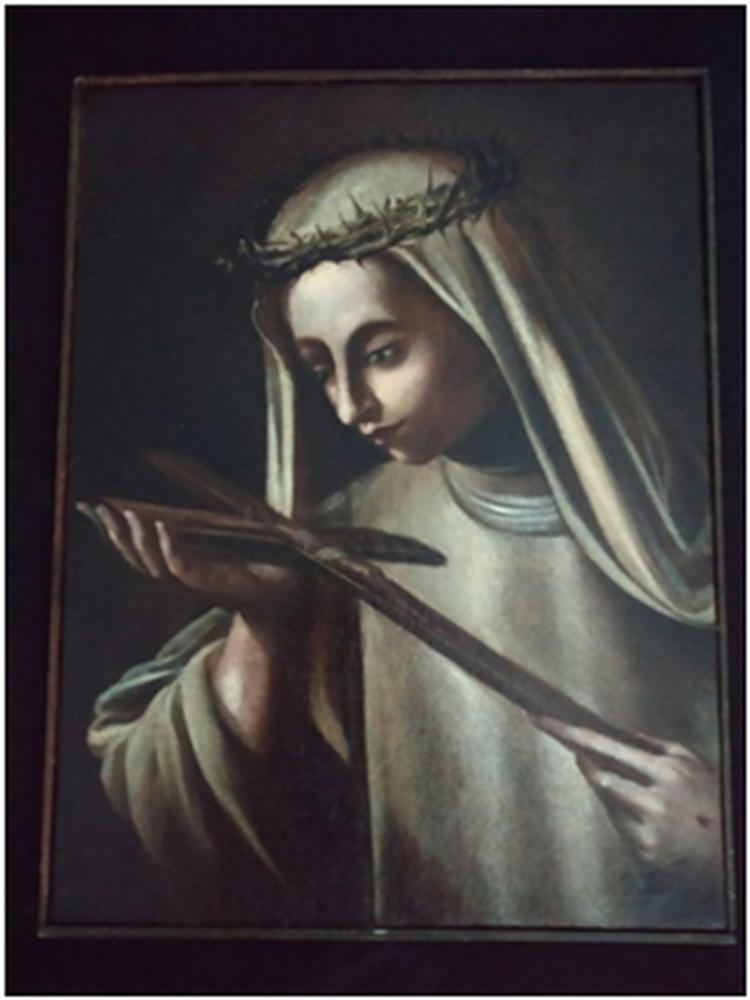 Recuperato il dipinto di Santa Caterina rubato 17 anni fa sarà riconsegnato dai carabinieri del nucleo per la tutela del patrimonio culturale di Napoli