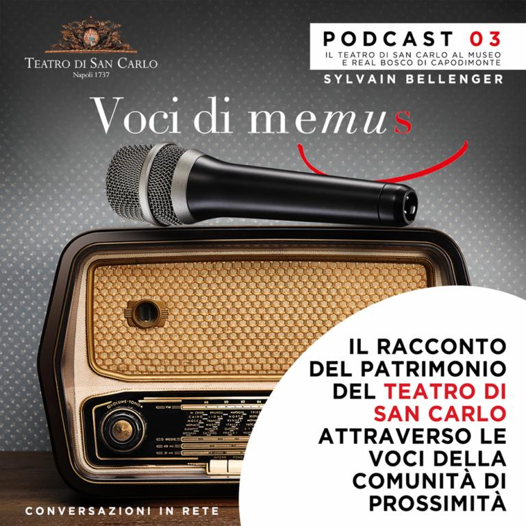 Da domani sabato 13 Febbraio disponibile on line la nuova puntata del podcast 'Voci di Memus': Protagonista il direttore del Museo e Real Bosco di Capodimonte Sylvain Bellenger