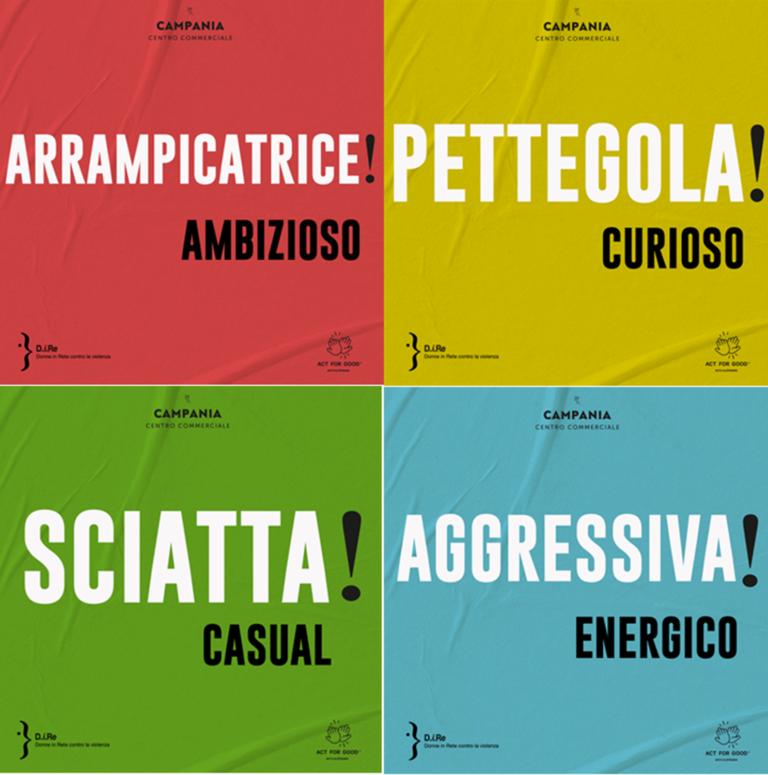 Le parole fanno la differenza: Donne in rete contro la violenza e Centro Commerciale Campania