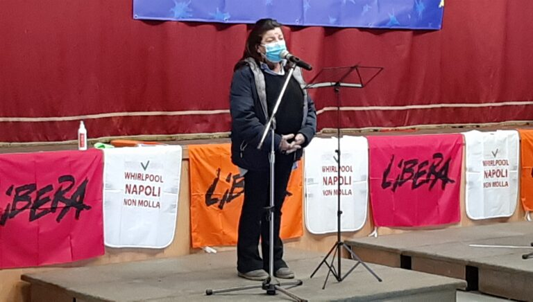 Alla Whirlpool Napoli, il ricordo delle vittime innoceti delle mafie