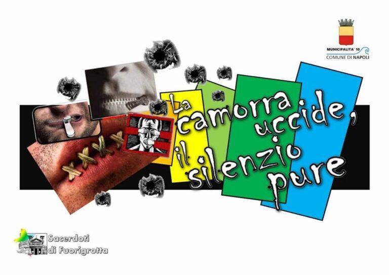 """Fuorigrotta dice no ai clan: """"La camorra uccide, il silenzio pure"""". Appuntamento domani alle 11 a Piazza San Vitale"""