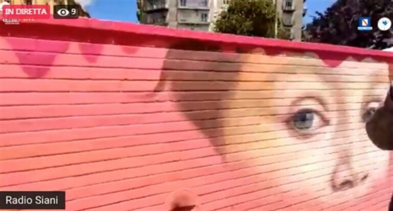 Noemi, il murales della speranza