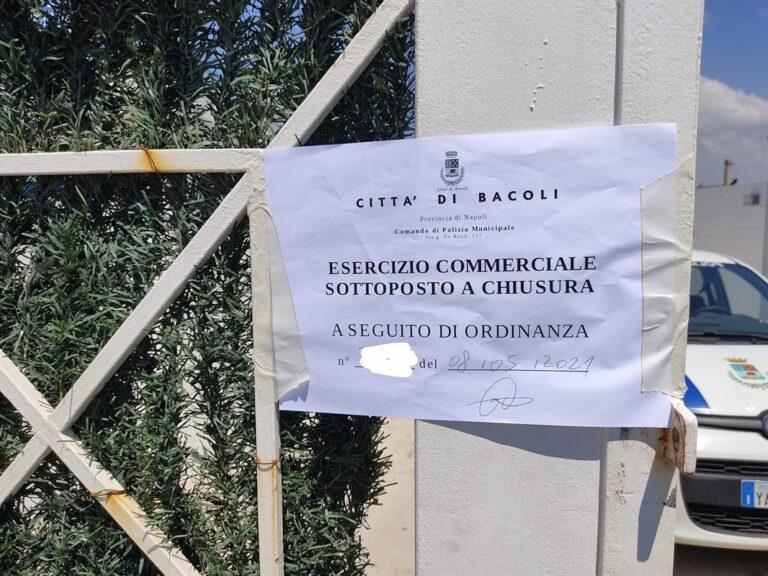 Blitz a Bacoli, scattano i sigilli a 15 parcheggi su litoranea Miliscola-Miseno